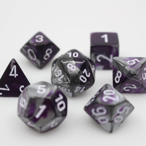 Gemini Purple Steel Dice Set