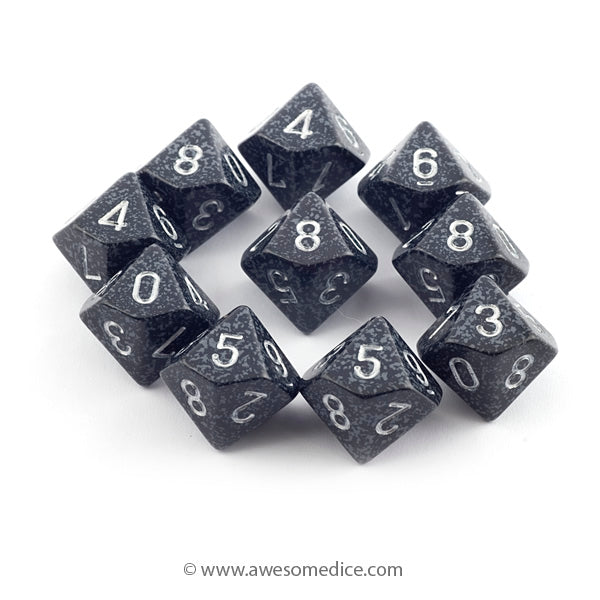 Speckled Ninja 10d10 Dice Set