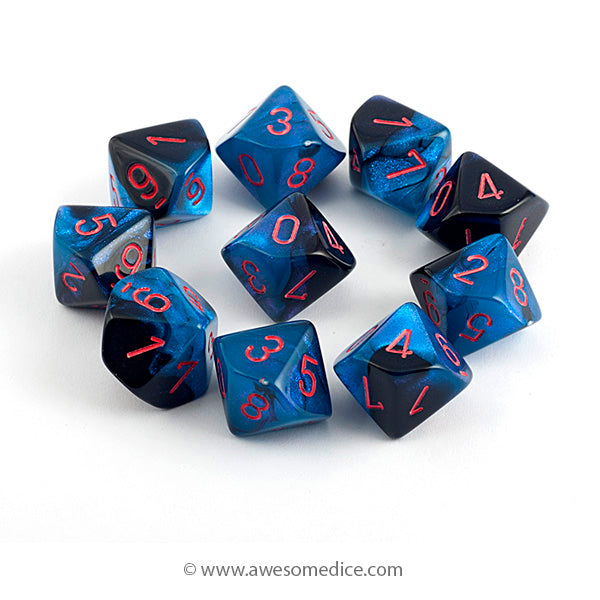 Gemini Black Starlight 10d10 Dice Set
