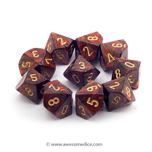 Scarab Blue Blood 10d10 Dice Set