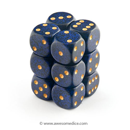 Speckled Golden Cobalt 12d6 Dice Set
