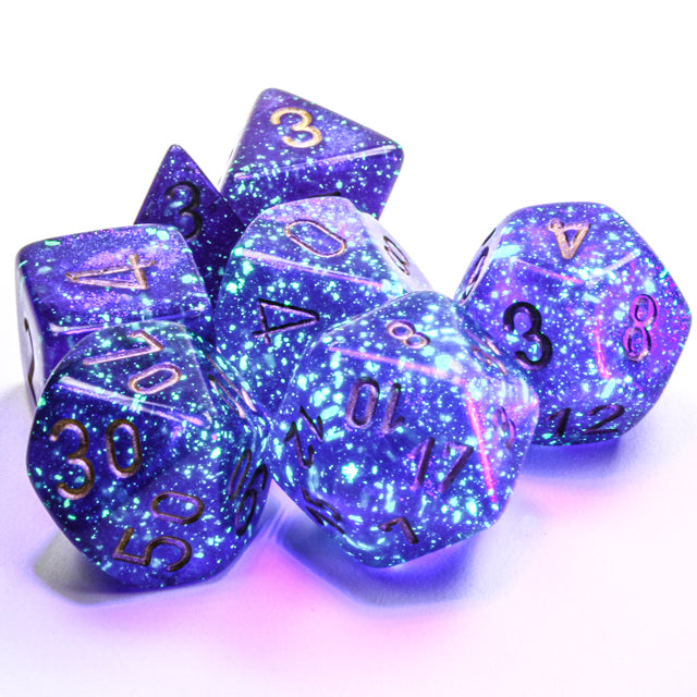 Chessex Borealis Royal Purple/white with Luminary
