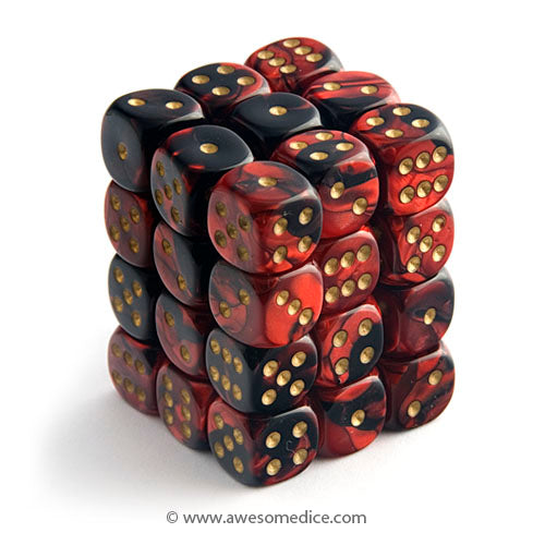 Gemini Red-Black 36d6 Dice Set
