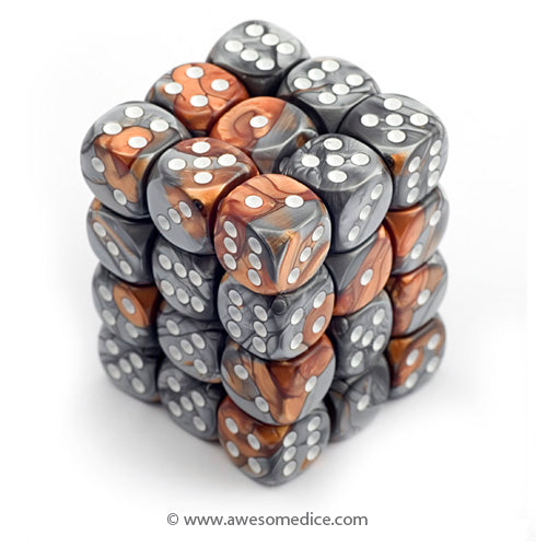 Gemini Copper-Steel 36d6 Dice Cube