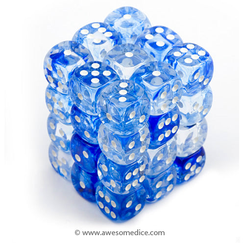 Nebula Blue 36d6 Dice Set