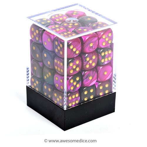 Gemini Black-Purple 36d6 Dice Set