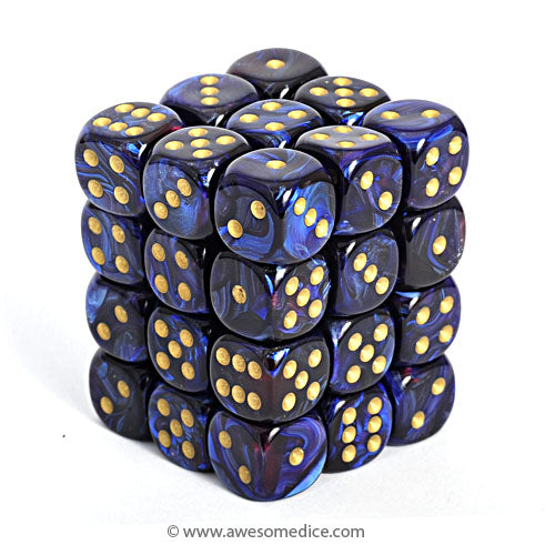 Scarab Royal Blue 36d6 Dice Set