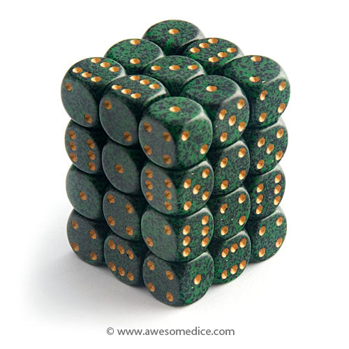 Speckled Golden Recon 36d6 Dice Set