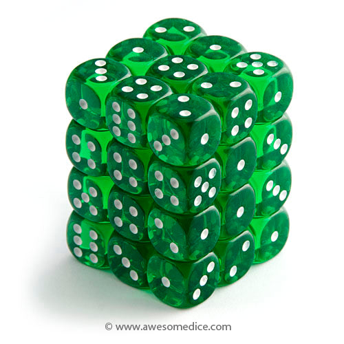 Translucent Green 36d6 Dice Set