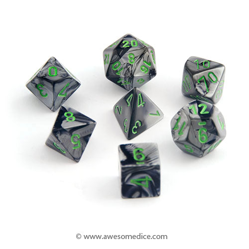 Gemini Black-Grey 7-Dice Set