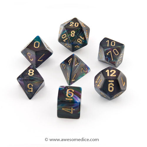 Lustrous Shadow 7-Dice Set