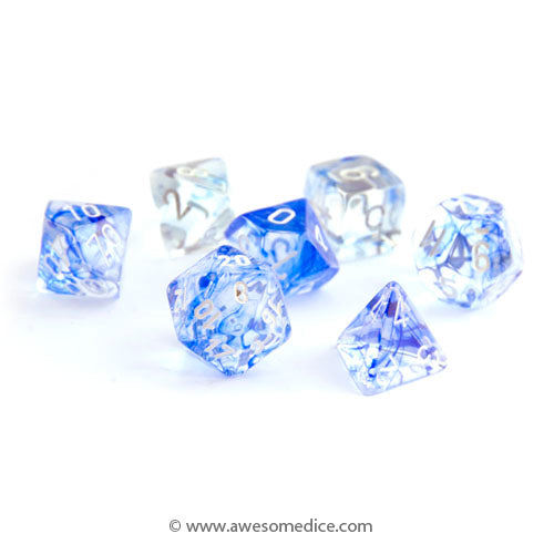 Nebula Blue 7-Dice Set