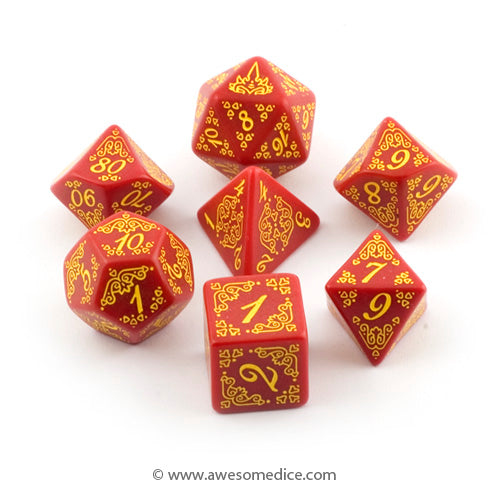 Pathfinder Curse of the Crimson Throne 7-Dice Set