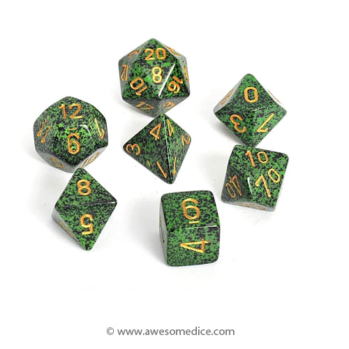 Speckled Golden Recon 7-Dice Set