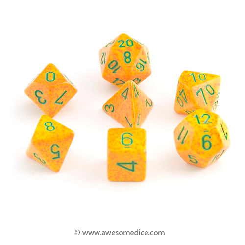 Speckled Lotus 7-Dice Set