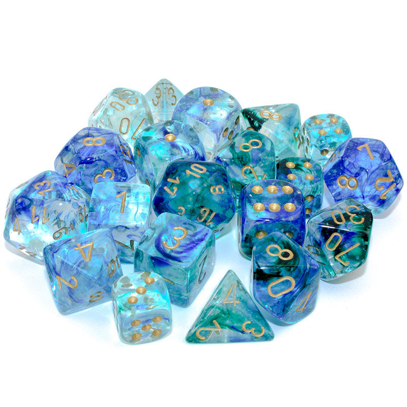 Nebula Oceanic Dice Set by Chessex
