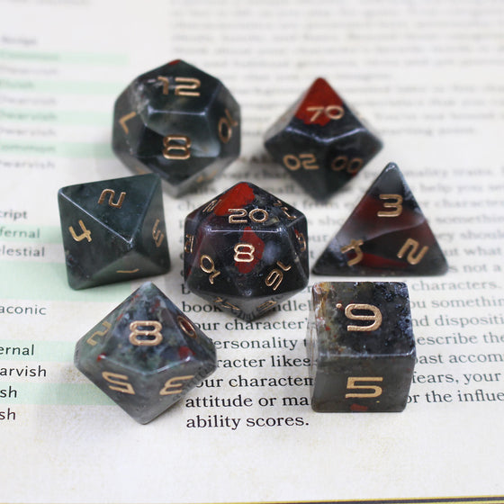 Bloodstone Dice Set