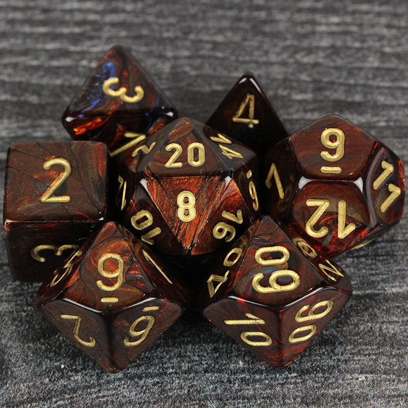 Scarab Blue Blood 7-Dice Set