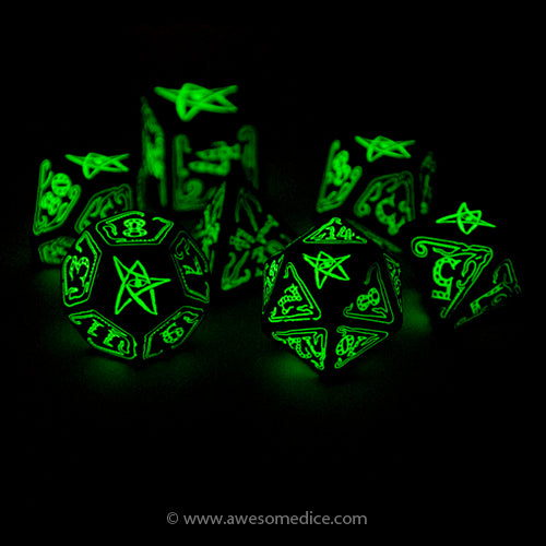 Call of Cthulhu Glow in the Dark Dice