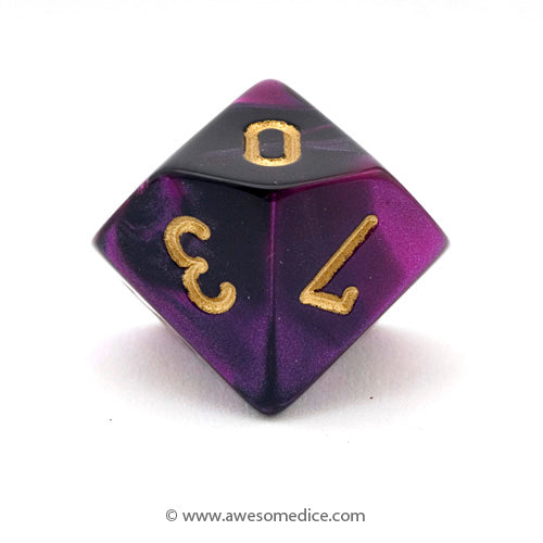 Single Gemini Black-Purple d10