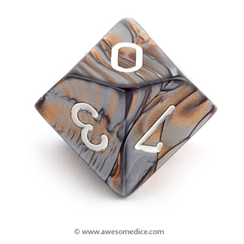 Single Gemini Copper-Steel d10