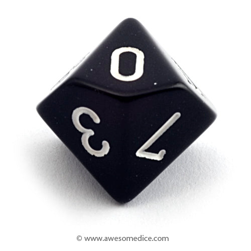 Single Opaque Black d10