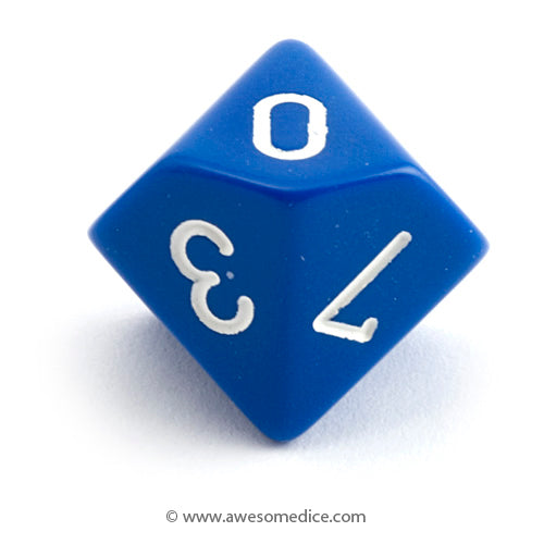 Single Opaque Blue d10