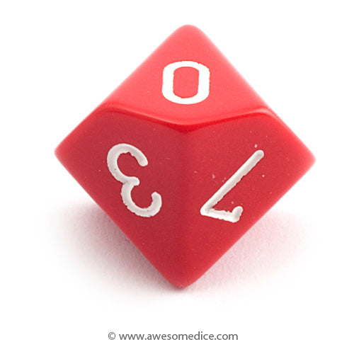 Single Opaque Red d10