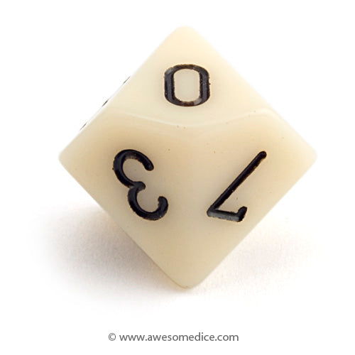 Single Opaque White d10