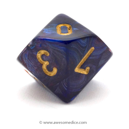Single Scarab Royal Blue d10