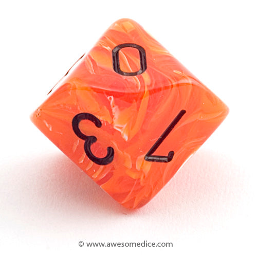 Single Vortex Orange d10