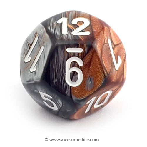 Single Gemini Copper-Steel d12