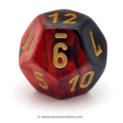 Single Gemini Red-Black d12