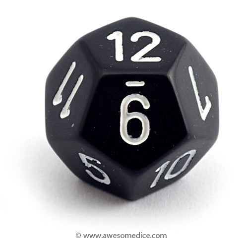 Single Opaque Black d12
