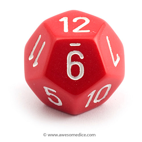 Single Opaque Red d12
