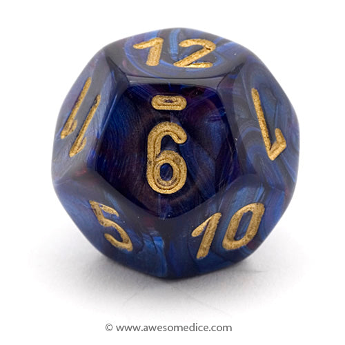Single Scarab Royal Blue d12