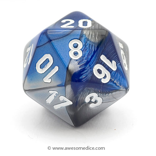 Single Gemini Blue-Steel d20