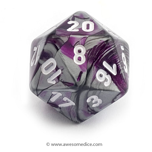 Single Gemini Purple-Steel d20