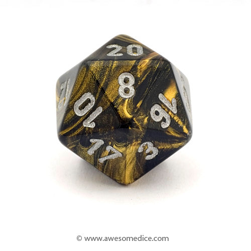 Single Leaf Black Gold d20