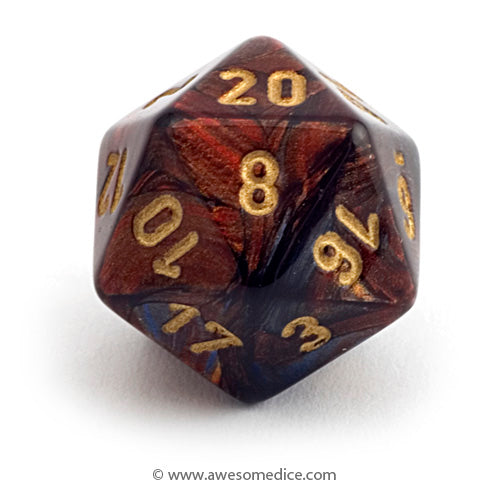 Single Scarab Blue Blood d20