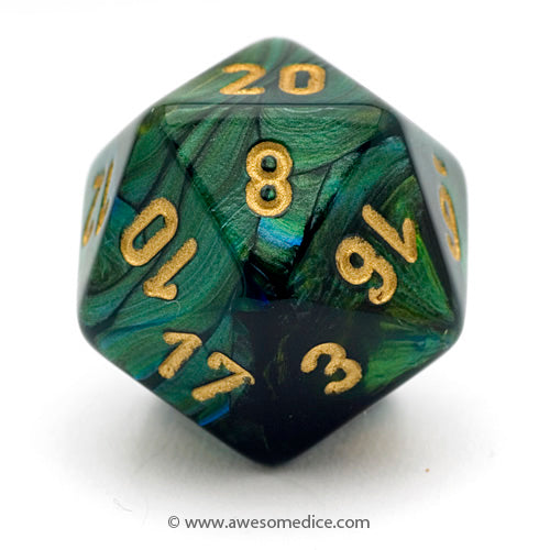 Single Scarab Jade d20