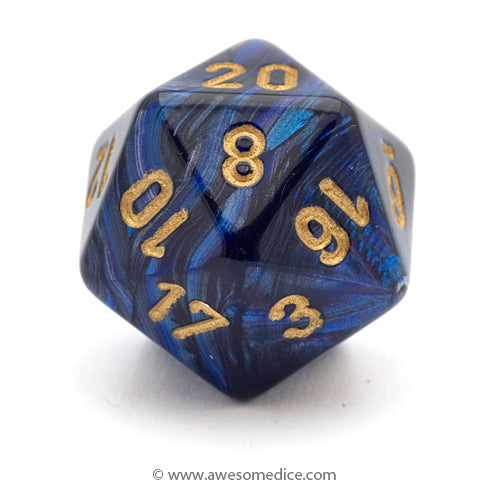 Single Scarab Royal Blue d20