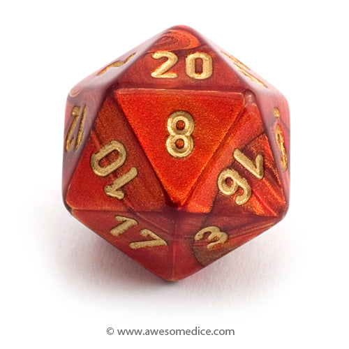Single Scarab Scarlet d20