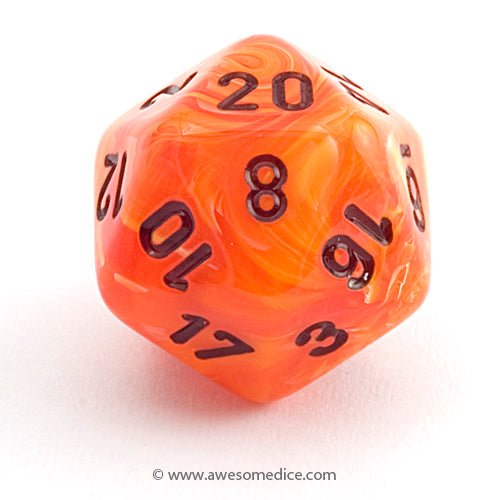 Single Vortex Orange d20