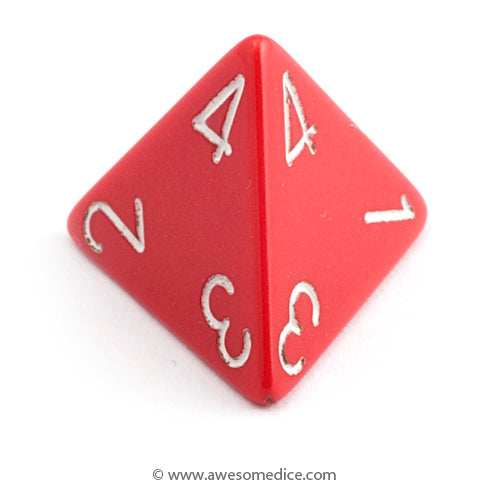 Single Opaque Red d4