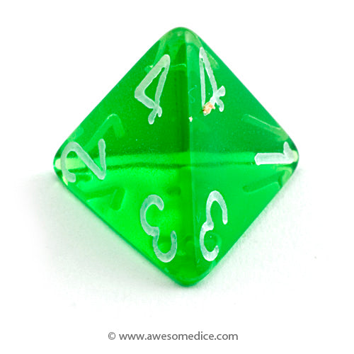 Single Translucent Green d4