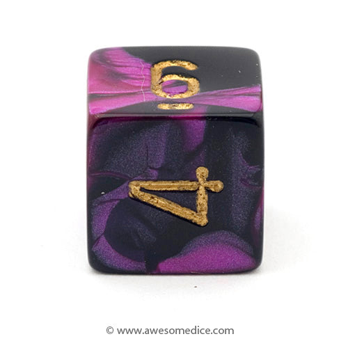 Single Gemini Black-Purple d6