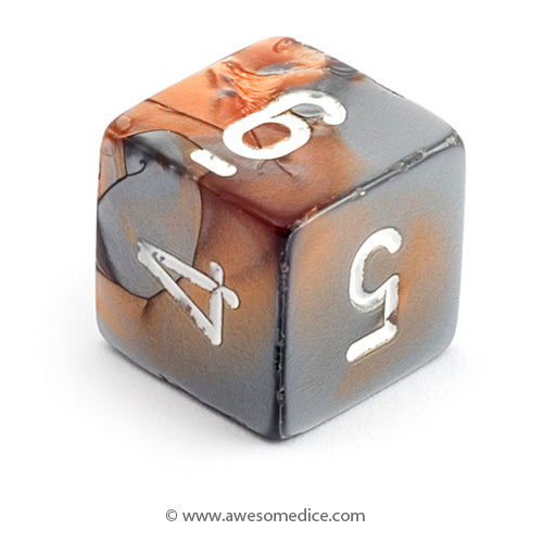 Single Gemini Copper-Steel d6