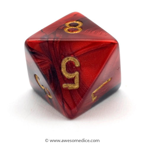 Single Gemini Red-Black d8