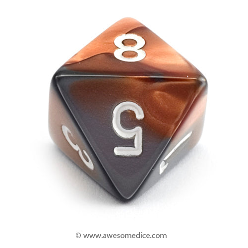 Single Gemini Copper-Steel d8